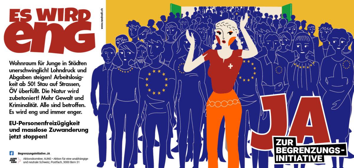 JA zur Begrenzungs-Initiative: Lancierung der AUNS-Kampagne